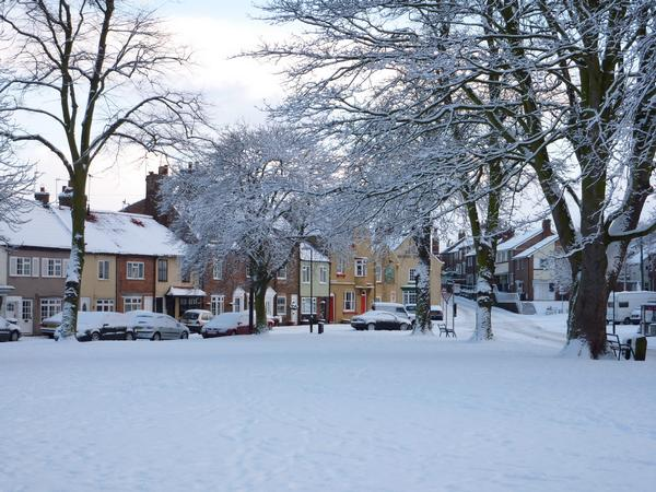 Brompton Church Green in winter