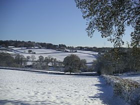 View of Buckland St Mary in the Snow © Nick Weaver