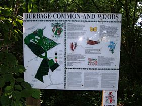 A map of Burbage Common And Woods, as you can see it is a large area.  © Georgina