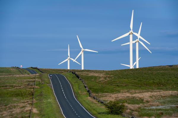 Coal Clough Wind Farm, Burnley, Lancashire, England, UK