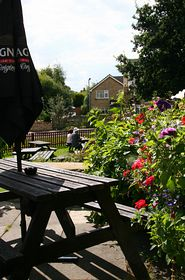 A view from the patio of the olde vic pub © Julian Greenwood
