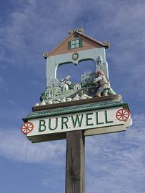Burwell Village Sign © Dana Elliott
