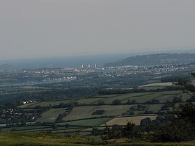 Plymouth Sound and the Tamar, from Kit Hill,Callington © Daryle Arkwell-Gay