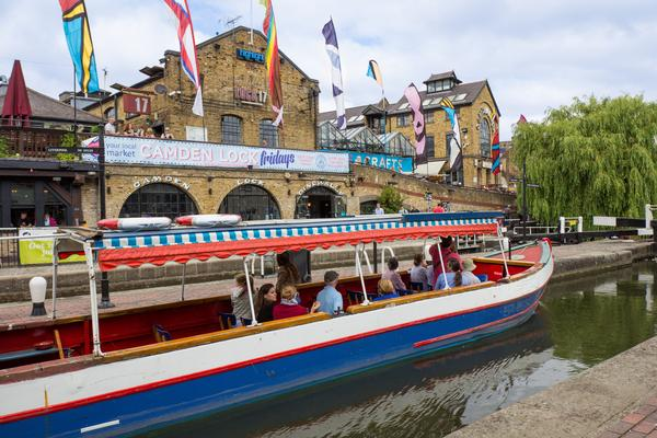 Camden Lock and the Regent's Canal in Camden Town