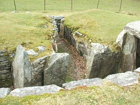 Another view of the Neolithic burial chamber © Jim Sumner