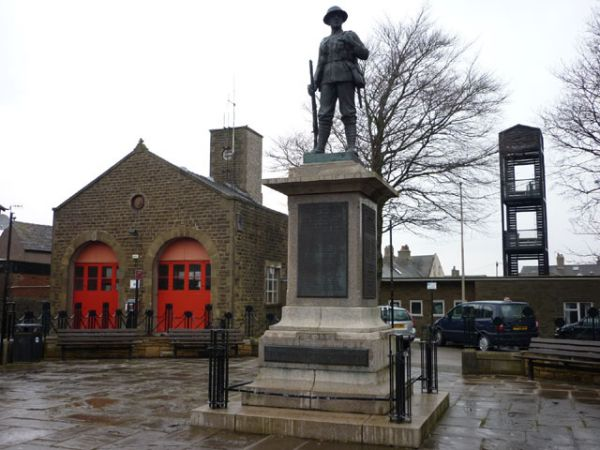 Carnforth War Memorial and Fire Station