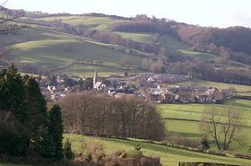 View of the Village from Coombe Lane © Jono Penrose