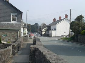 Centre of the village with main A470 © Ian Howells