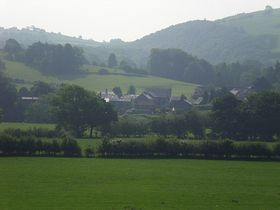View of Village from Opposite Side of Dyfi Valley © Ian Howells