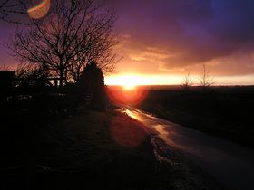 Sunset over Chacombe © Max Linder