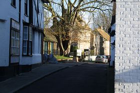 A glimpse into the church square © James Apps