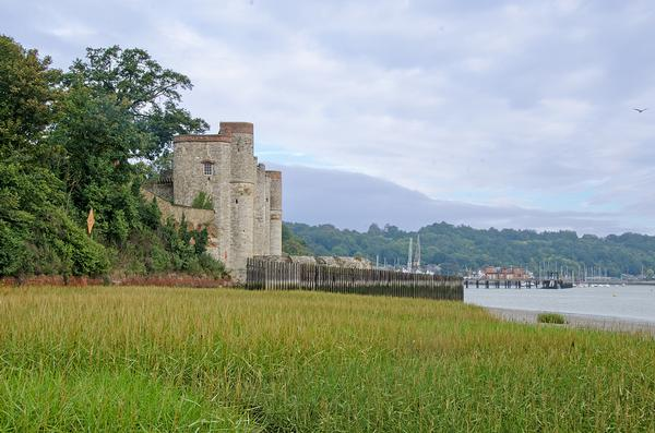 Upnor Castle built in Elizabethan Times to protect ships in Chatham Dockyard