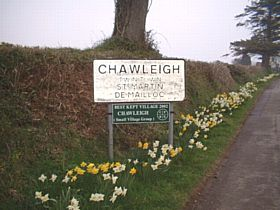 Chawleigh Sign, Showing Winner Best Kept Village © Graham Levick