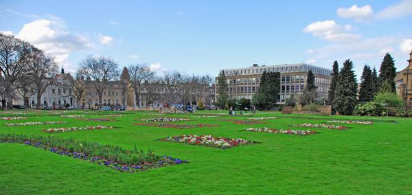 Stunning panorama of the Imperial Gardens in Cheltenham, United Kingdom