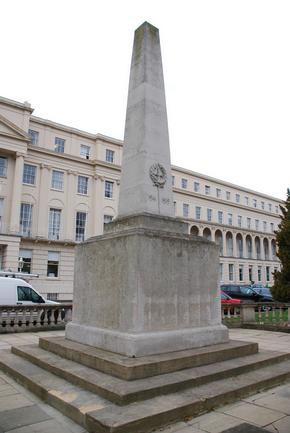 Cheltenham war memorial in front of the Municipal Buildings, England (UK)
