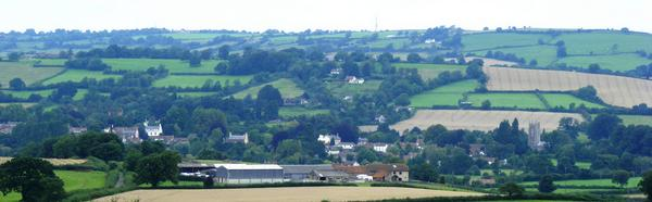 Chew Magna from Knowle Hill