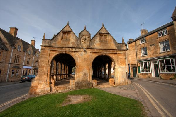 The Market Hall ancient building in the centre of Chipping Campden