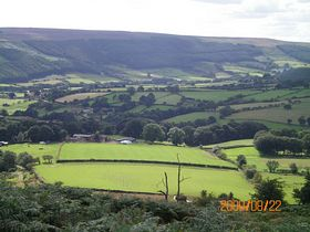 Looking down onto Chop Gate from Urra Moor © Philip Cookson