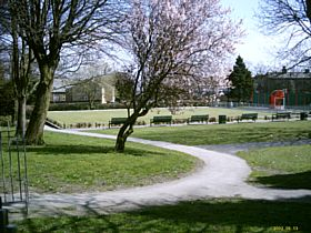 Victoria Park & Bowling Green, Clayton.  There is also a Play Area for Children © Michael McGann