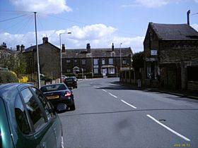 Looking down Nursery Road, Clayton with the Fish Shop on the right © Michael McGann