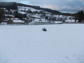 Sledging new years day 2010 © MARY NEWCOMBE