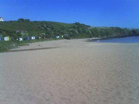 Flag of quality assurance will fly at Coldingham Bay voted by Keep Scotland Beautiful - Rural Beach 2007. © Fiona Clift
