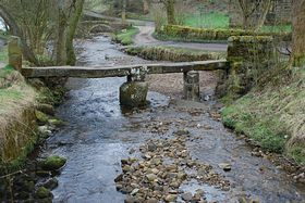 The Slab Bridge at Whycoller Hall Nr Colne. © Mr Philip Moon (HKt.B)