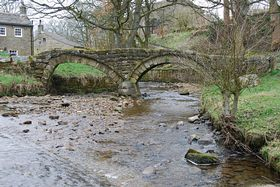 The Pack Horse Bridge at Whycoller Hall Nr Colne.. © Mr Philip Moon (HKt.B)
