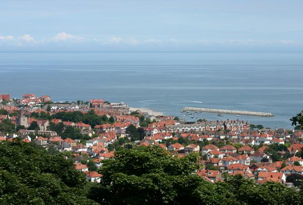 View looking down over Colwyn Bay, North Wales