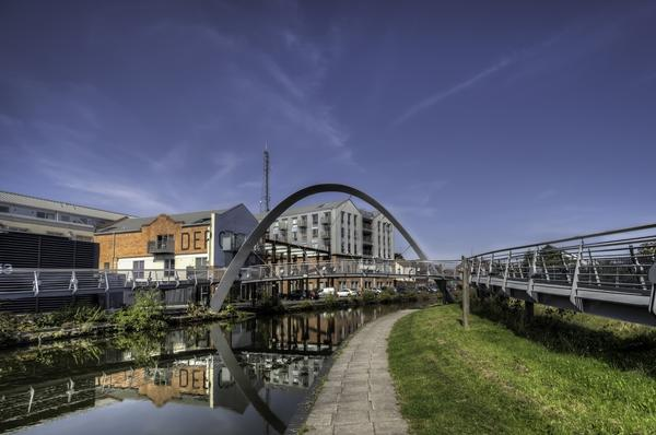 Modern Bridge Design Crossing Over The Coventry Canal UK