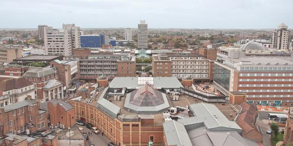 Panorama of the city of Coventry