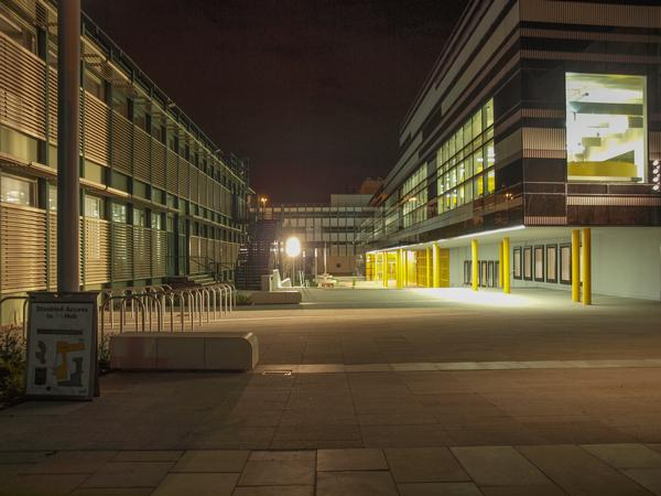 Coventry University Buildings at Night