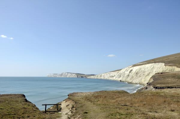Isle of Wight coastal Path - view of white cliffs