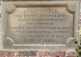Plaque at Shandy Hall, Coxwold © Anne Zanotti