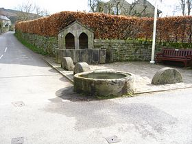 Horse Trough & Covered Well &copy Tony Bacon