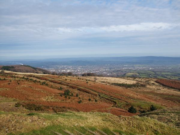 Cwmbran from Twmbarlwm Hillfort