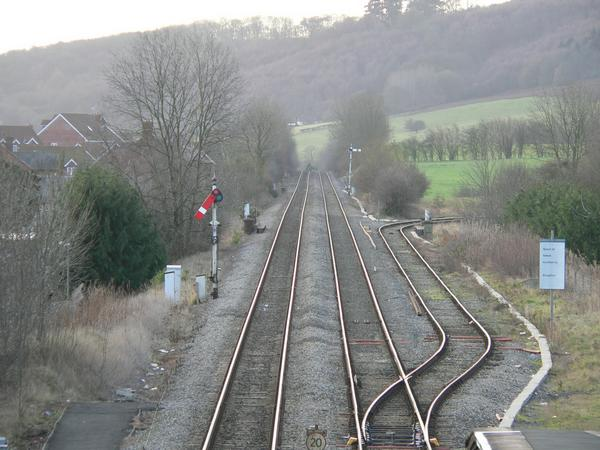 Junction of the Heart of Wales and Welsh Marches railways