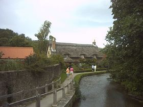 Photographed from the bridge on main road 2003 © Peter Forrrest