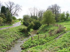 The brook as you enter the village from the north © Bill Gibson