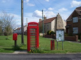 Post Box, telephone, Parish council Notice Board and Dog poo Bin © Bill Gibson