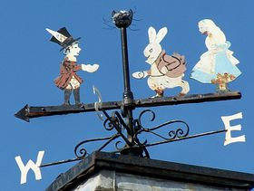 Weathervane with Alice characters © Duncan Hamman