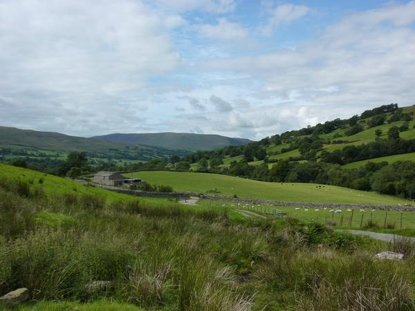 Looking down Dentdale from the Dales Way