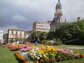 Town Hall from Longcauseway garden's © Philip Cookson