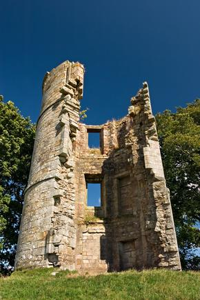 The ruins of Douglas Castle, also known as Castle Dangerous near Douglas, Lanarkshire