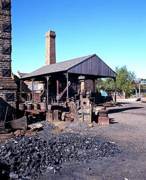 View of an Iron works yard in Dudley, West Midlands