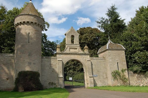 Entrance to Duns Castle