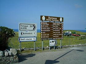 Signposts in Durness © M Taylor