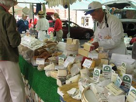Cheese Stall, Easingwold Market Square © Frank Johnston-Banks