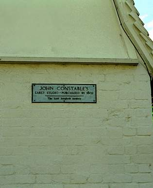 Plaque showing John Constable's early Studio in East Bergholt © Diana Hitchin