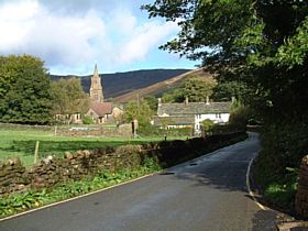 Edale Church at the Centre of the Village © Stewart Green